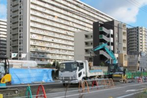 建設工事現場の風景